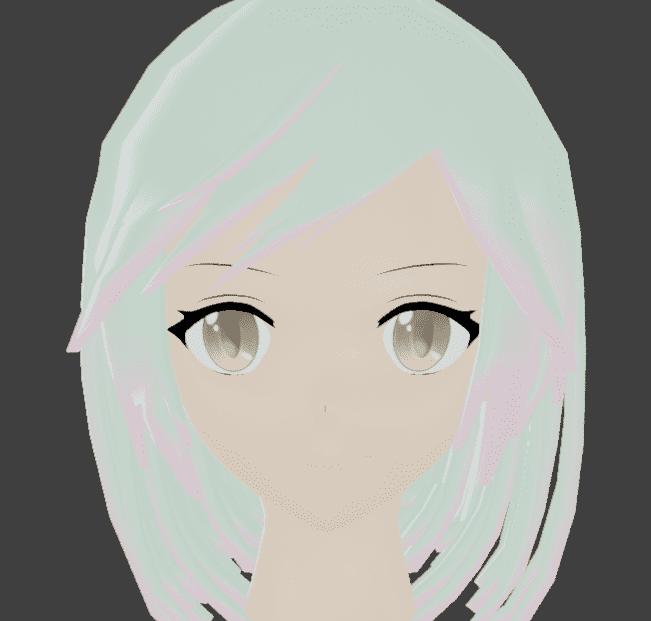 Blender アニメーション 人 3DCG モデリング 女の子 シェイプキー アーマチュア