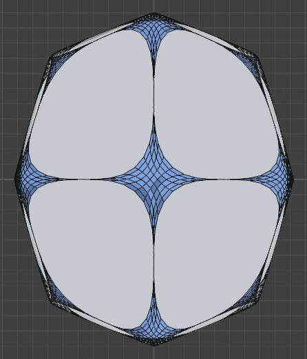 Blender ベベルモディファイアー ダイヤ型 装飾 模様 3DCG モデリング