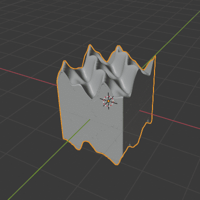 Blender ディスプレイス モディファイアー テクスチャ 3DCG モデリング ディスプレイスメントマッピング マジック プロシージャルテクスチャ