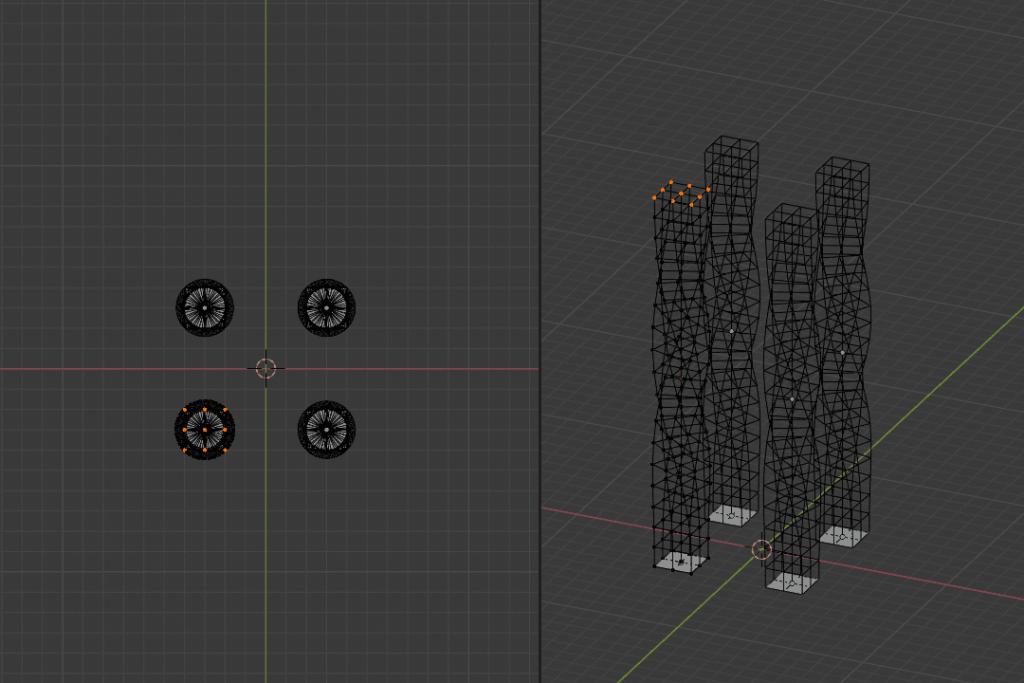Blender ラティス モディファイアー 平面 3DCG モデリング