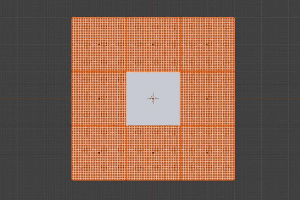 Blender サーフェス変形 サブディビジョンサーフェス ワイヤーフレーム モディファイアー 平面 Plane 3DCG モデリング