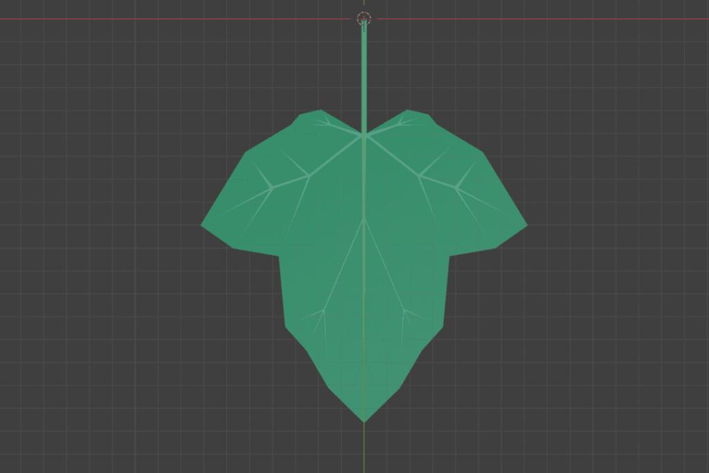 Blender 葉っぱ メッシュ ツタ ivy 3DCG モデリング