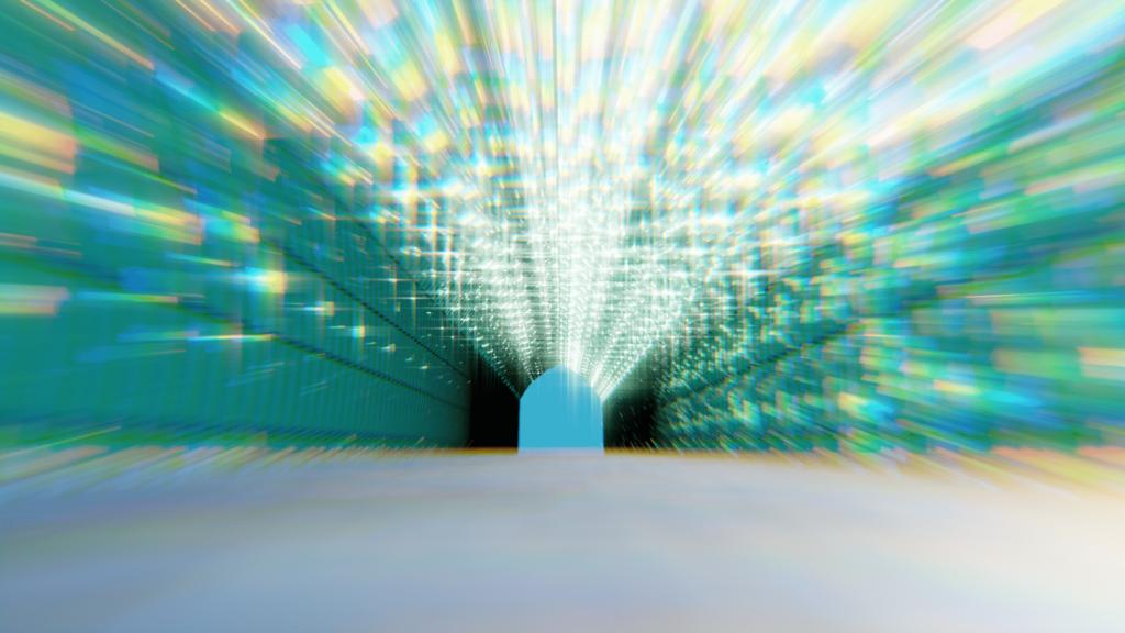 Blender コンポジター グレア レンズ歪み ノード 3DCG モデリング ツタ トンネル ivy tunnel