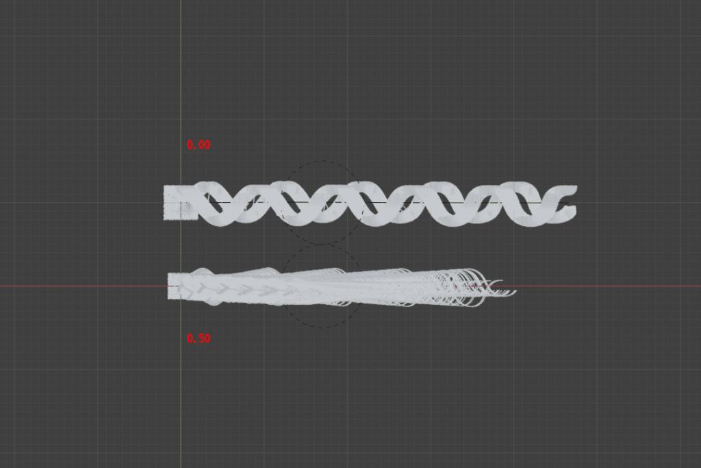 Blender フォースフィールド 物理演算 シミュレーション 3DCG パーティクル カーブ ヘアー