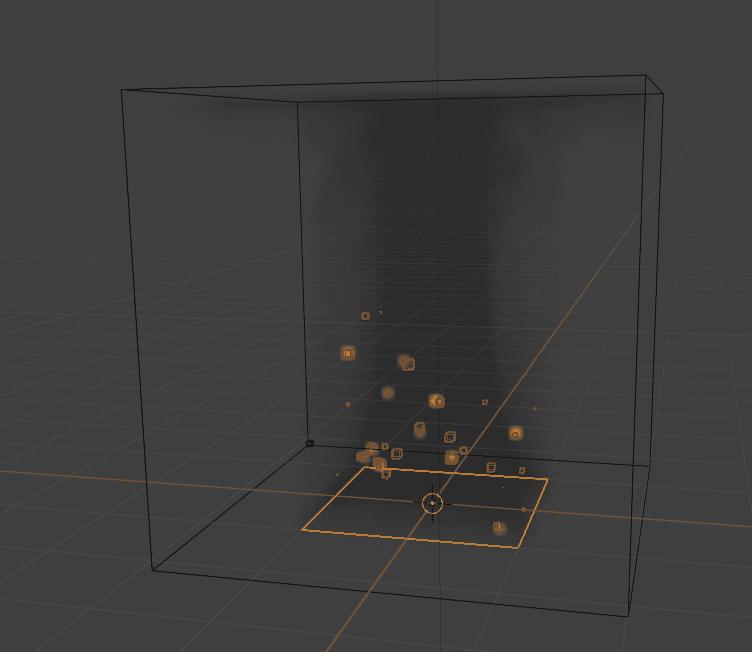 Blender フォースフィールド 物理演算 シミュレーション 3DCG パーティクル smoke 煙 煙のフロー smoke flow domain ドメイン 平面