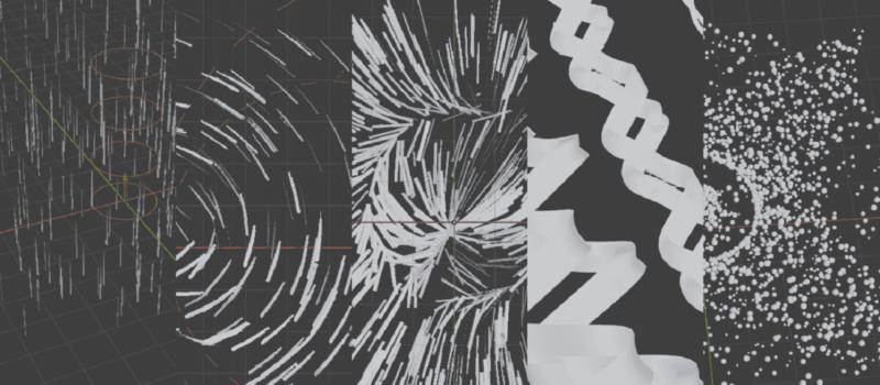 Blender フォースフィールド 物理演算 シミュレーション 3DCG パーティクル