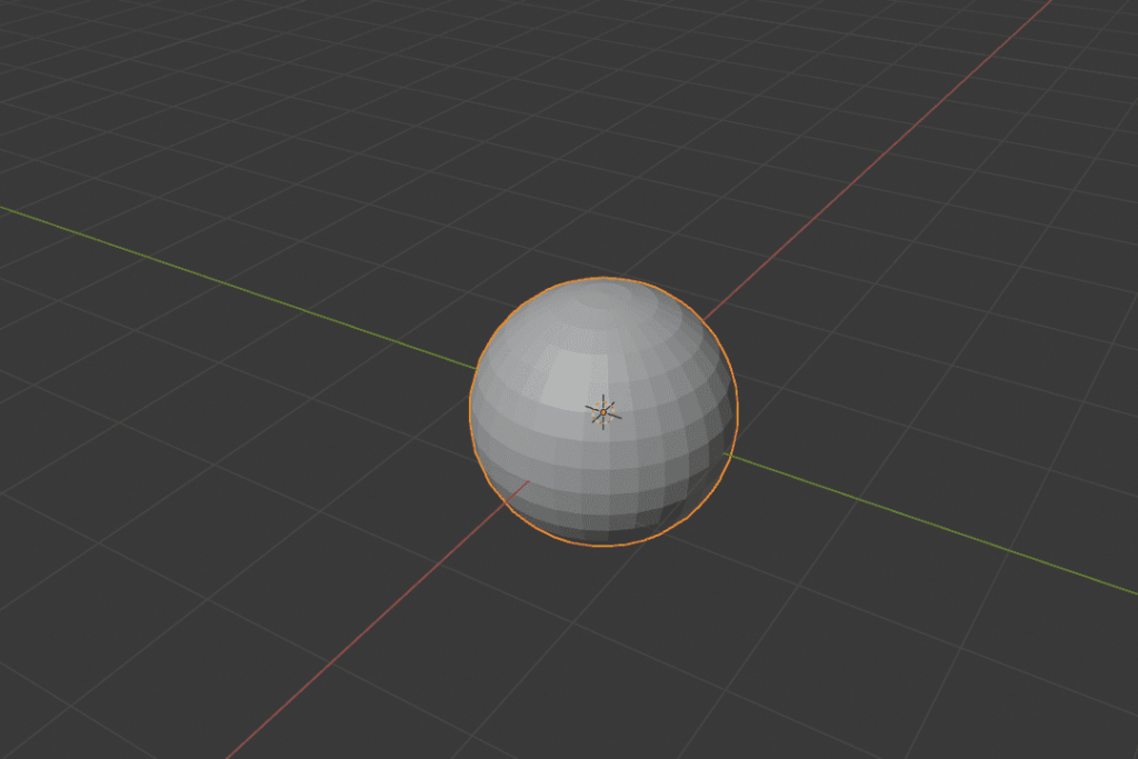 Blender 球 メッシュ オブジェクト 3DCG モデリング