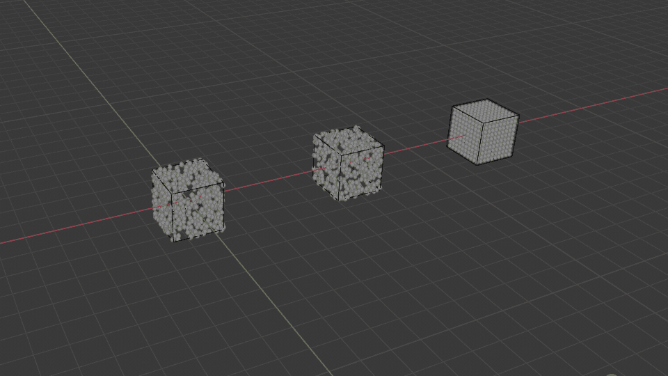 Blender パーティクル 分布 3DCG 立方体 Cube