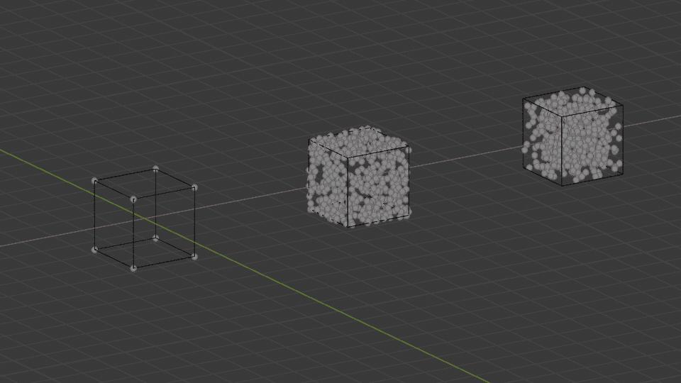 Blender パーティクル エミッター ハロー 3DCG Cube 立方体