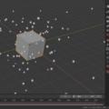 Blender パーティクルシステム エミッター 物理シミュレーション 3DCG