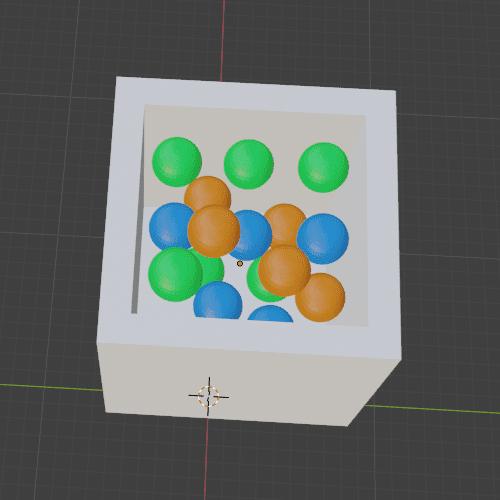 Blender リジッドボディ リジッドボディワールド 物理シミュレーション 3DCG モデリング 物理演算 ボール 箱