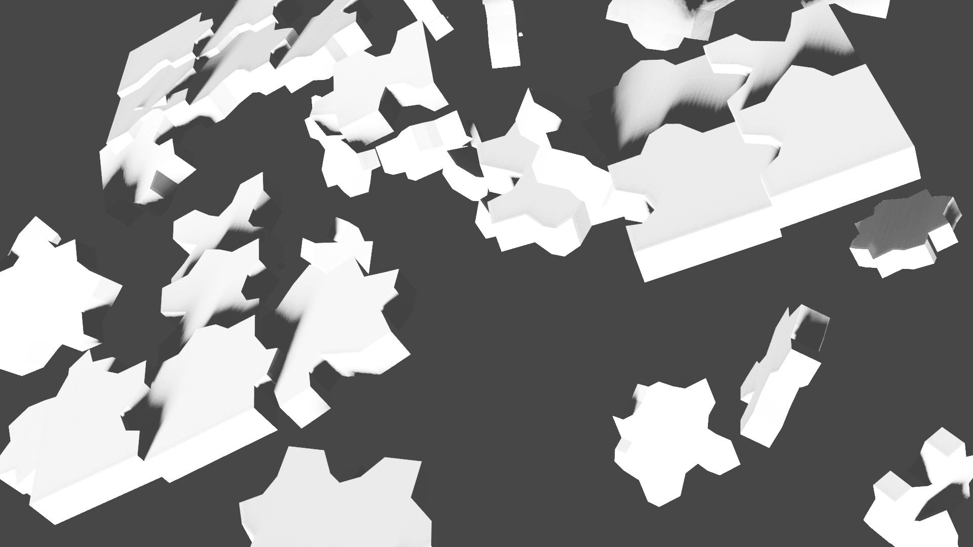 [Blender 2.8] 剛体の衝突や破壊表現 [リジッドボディ]