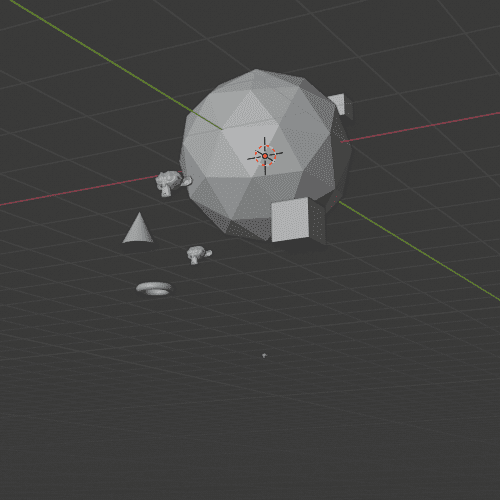 Blender パーティクルシステム エミッター 3DCG