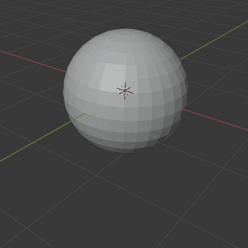Blender  3DCG UV球