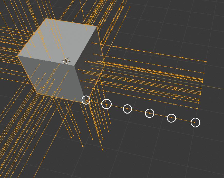 Blender パーティクルシステム ヘアー キー パス パーティクル編集モード ポイント 3DCG