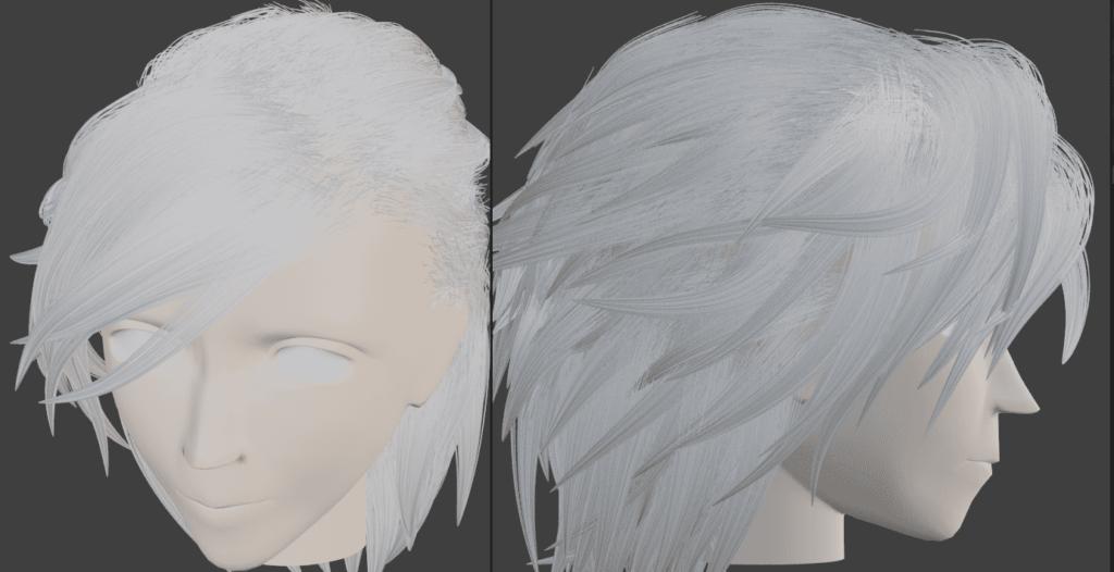 Blender パーティクルシステム ヘアー ブラシ 追加 3DCG パーティクル編集モード