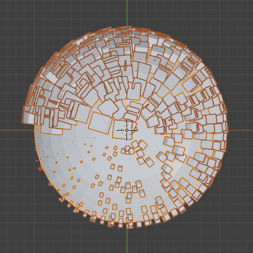 Blender パーティクルシステム エミッター UV球 3DCG
