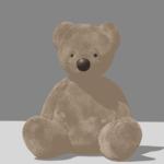Blender クロス シミュレーション パーティクル ヘアー 3DCG モデリング テディベア