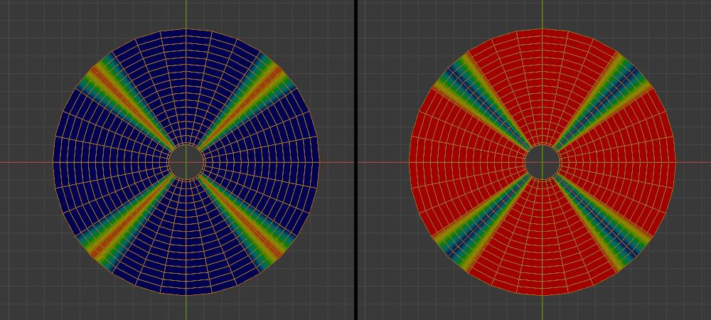 Blender 円 ウェイトペイント 3DCG モデリング