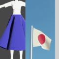 Blender クロス シミュレーション 3DCG モデリング テディベア 衣服 スカート 旗 風船