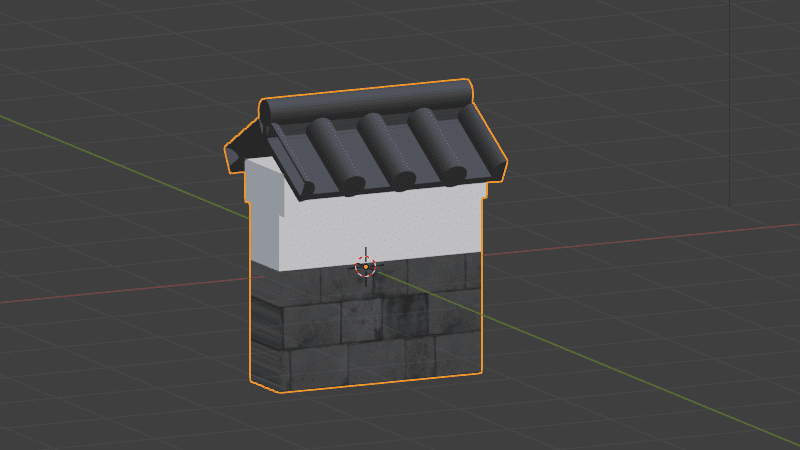 Blender カーブモディファイアー 3DCG モデリング カーブ 城壁
