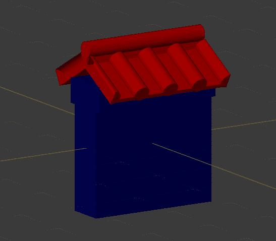 Blender カーブモディファイアー 3DCG モデリング 城壁 ウェイトペイント