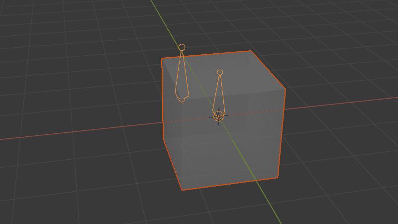 Blender フック モディファイアー 3DCG モデリング アーマチュア ボーン