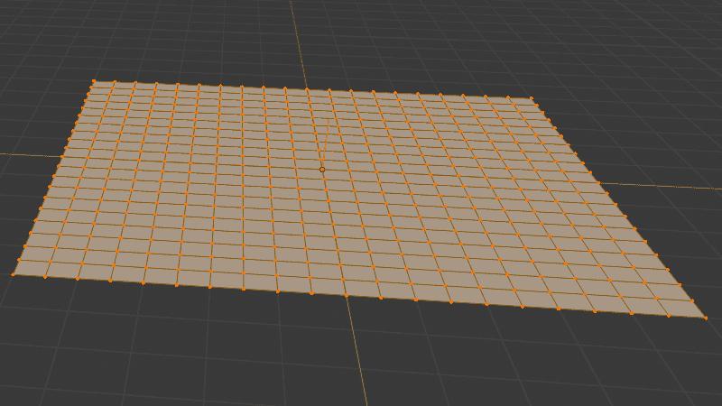Blender 平面 メッシュ 3DCG モデリング