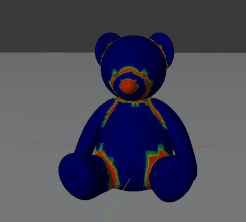 Blender クロス シミュレーション 3DCG テディベア 頂点グループ