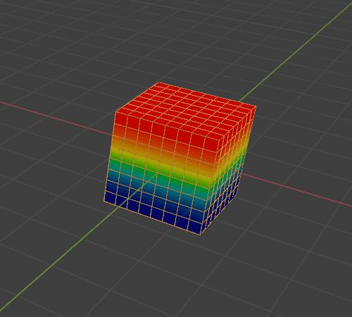 Blender 頂点グループ ウェイトペイント 3DCG モデリング Cube 立方体