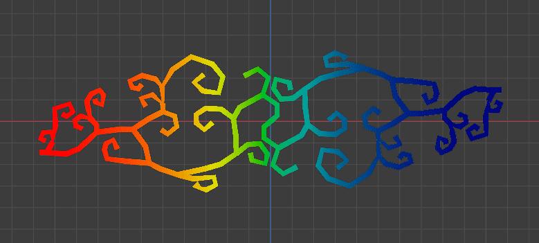 Blender 3DCG モデリング 唐草模様