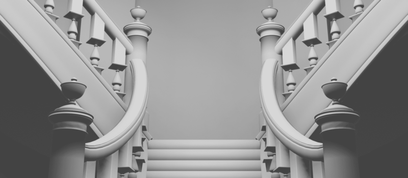 Blender キャスト カーブ スクリュー モディファイアー 3DCG モデリング 階段