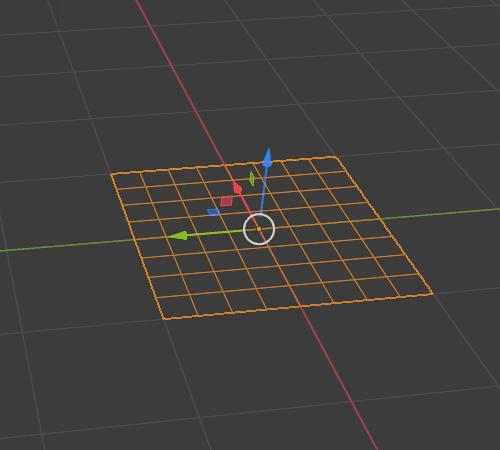 Blender シンプル変形 モディファイアー 3DCG モデリング 平面