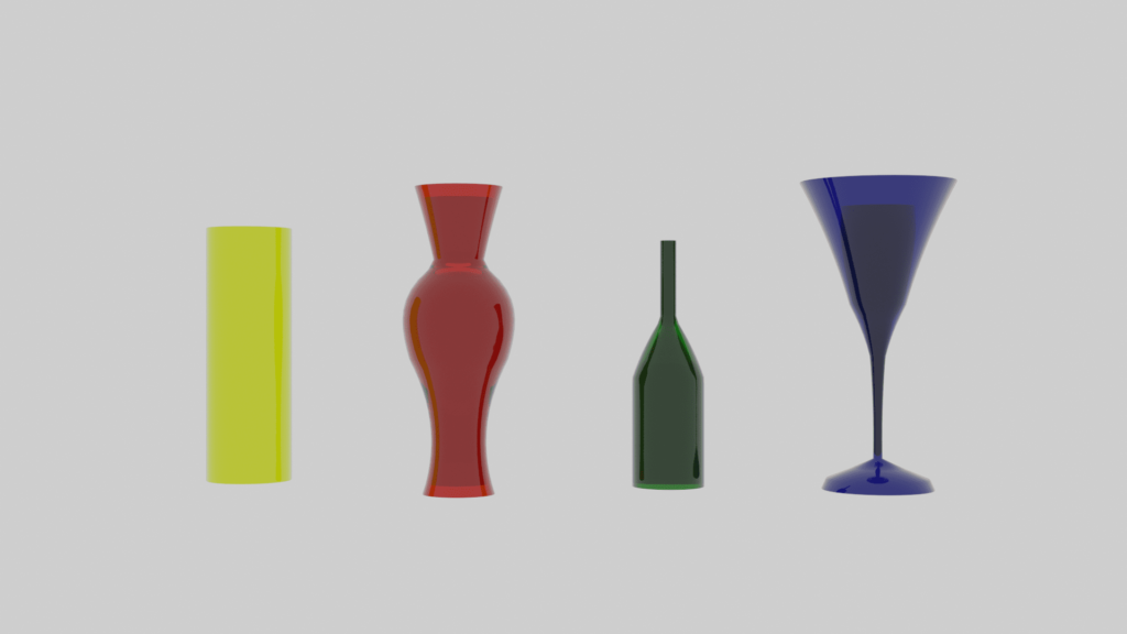 Blender シンプル変形 モディファイアー 3DCG モデリング 円柱 グラス 花瓶 酒瓶