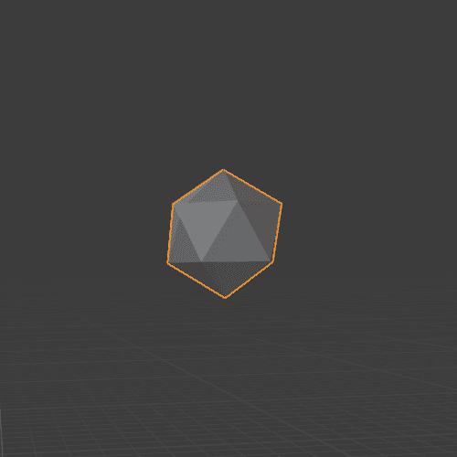 Blender ICO球 3DCG モデリング