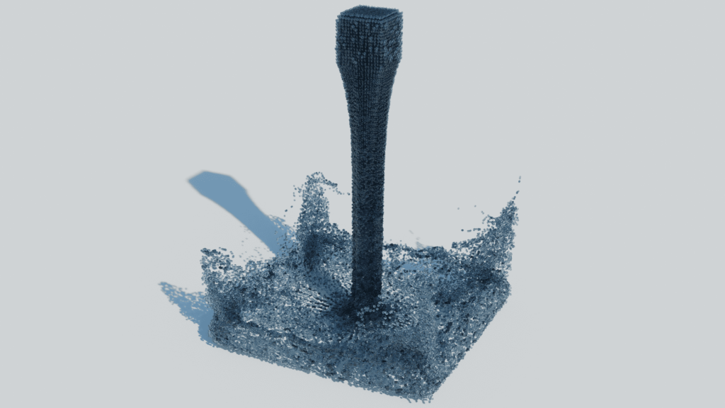 Blender 流体 物理シミュレーション ドメイン 液体 3DCG パーティクル