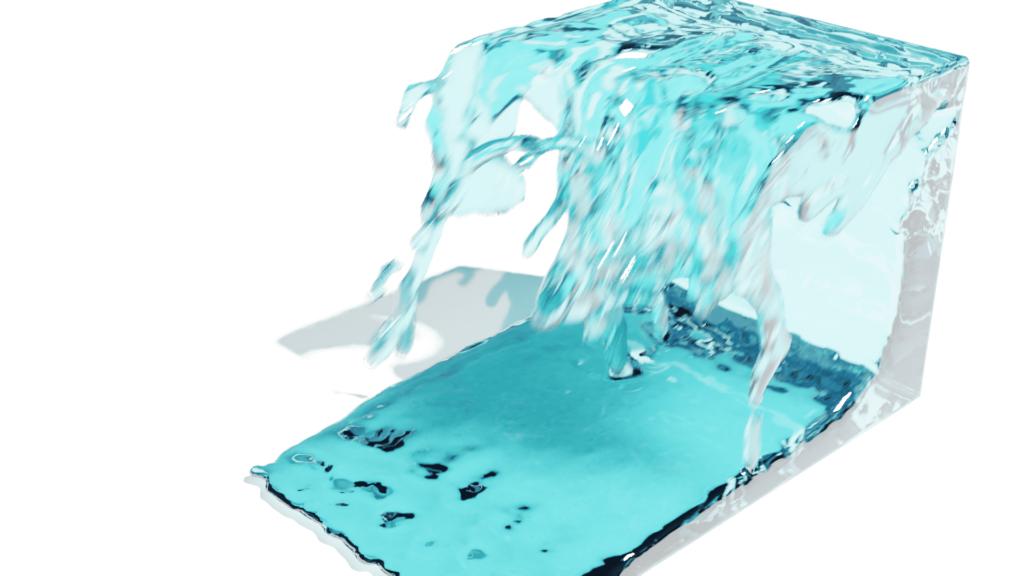 Blender 流体 物理シミュレーション ドメイン 液体 3DCG モーションブラー