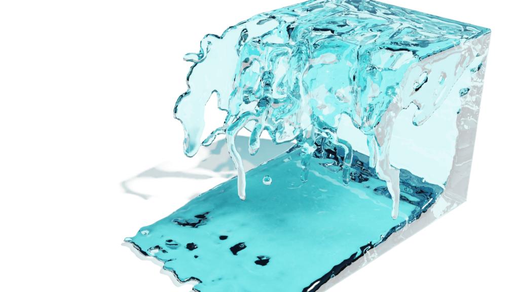 Blender 流体 物理シミュレーション ドメイン 液体 3DCG レンダリング