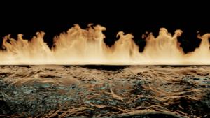 Blender 流体 物理シミュレーション 3DCG 水 炎 火