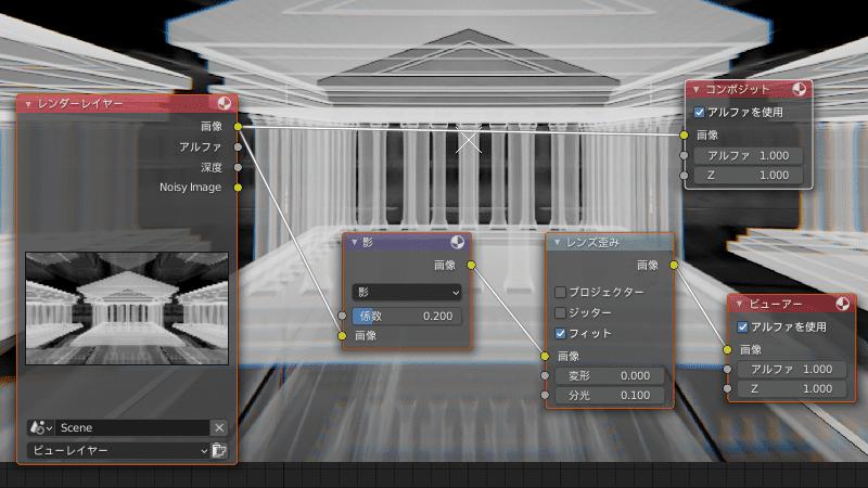 Blender コンポジター コンポジットノード ボリューム 3DCG