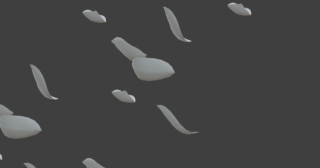 Blender ミラーモディファイアー 3DCG モデリング 複製 花びら