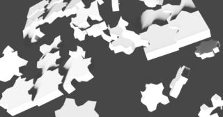 Blender リジッドボディ 物理シミュレーション 3DCG モデリング パズル